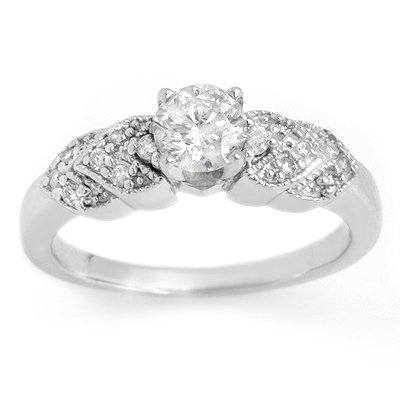 Bridal 0.75ctw Certified Diamond Anniversary Ring Gold