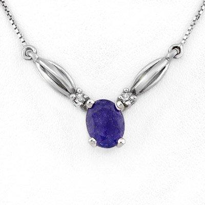 Necklace 1.30ctw Diamond & Tanzanite