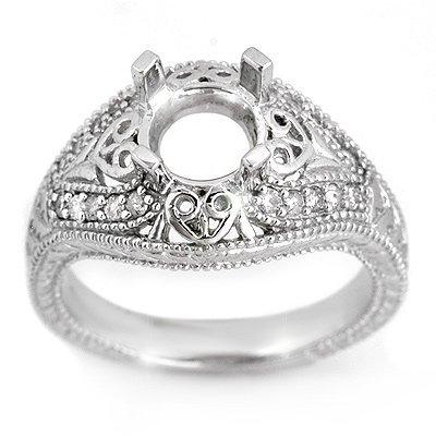 Anniversary .33ctw ACA Certified Diamond Semi-Ring Gold