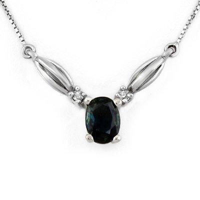 Necklace 1.30ctw Diamond & Blue Sapphire