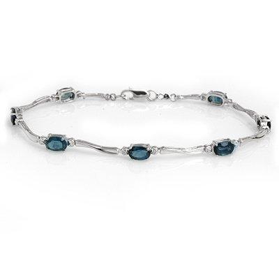 Fine 5.02ctw ACA Certified Diamond & Sapphire Bracelet