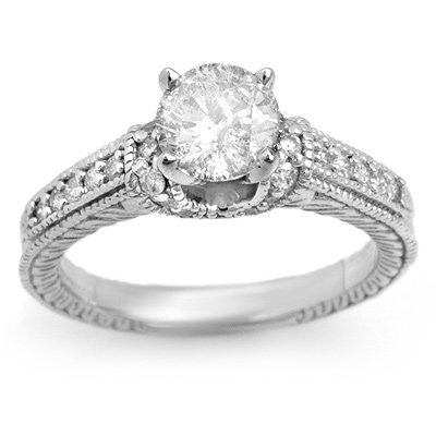 Solitaire 1.50ctw ACA Certified Diamond Ring 14K Gold