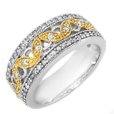 Fine 0.65ctw ACA Certified Diamond Eternity Band