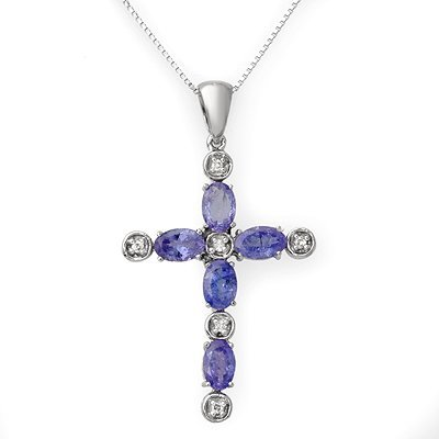 Necklace 3.15ctw ACA Certified Diamond & Tanzanite
