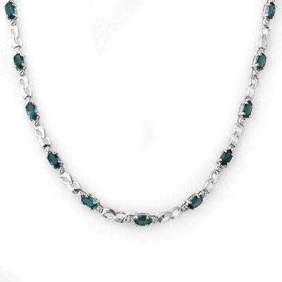 Necklace 9.02ctw ACA Certified Diamond & Blue Sapphire
