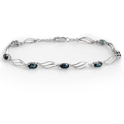 Bracelet 3.02ctw ACA Certified Diamond & Sapphire