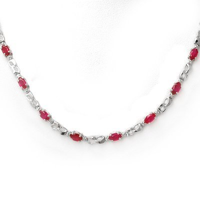 Fine 9.02ctw ACA Certified Diamond & Ruby Necklace