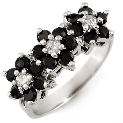 Fine 1.25ct ACA Certified White & Black Diamond Ring