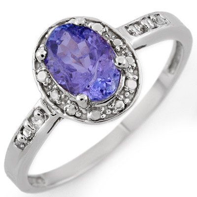 Fine 1.10ctw ACA Certified Diamond & Tanzanite Ring