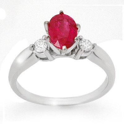 Anniversary 1.45ctw Certified Diamond & Ruby Ring 14K W