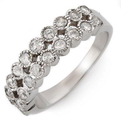 Bridal 0.75ct Certified Diamond Anniversary Band 14K