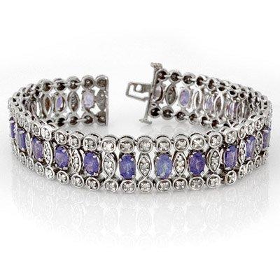 Vintage style 17.50ctw Diamond & Tanzanite Bracelet