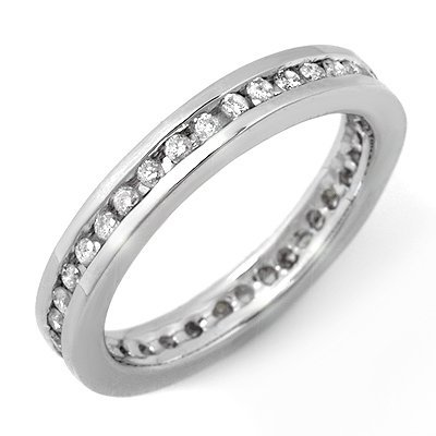 ACA Certified 0.50ctw Diamond Eternity Band White Gold