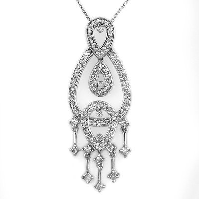 Chandelier Necklace 1.0ctw ACA Certified Diamond 14K