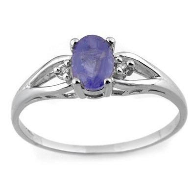 Famous 0.77ctw ACA Certified Diamond & Tanzanite Ring