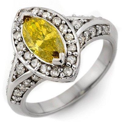 Ring 1.72ct ACA Certified White & Canary Yellow Diamond