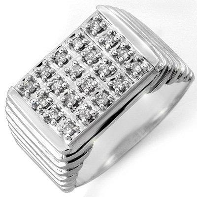 Famous 1.0ctw ACA Certified Diamond Men's Ring Gold