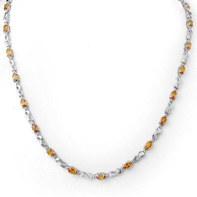 Necklace 9.02ctw Certified Diamond & Orange Sapphire