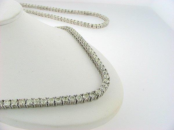 570990761: ACA Certifed 50.0CT Opera Tennis necklace 14
