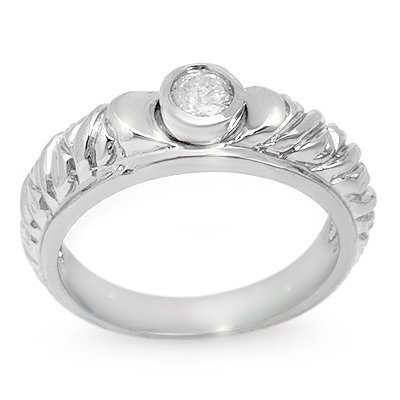 Anniversary .20ct ACA Certified Diamond Ladies Ring 14K