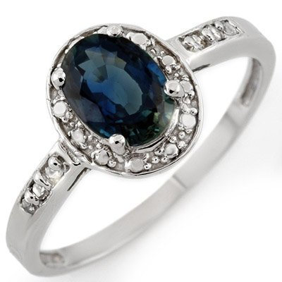 Fine 1.35ctw ACA Certified Diamond & Blue Sapphire Ring