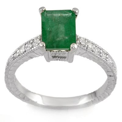 Fine 2.15ctw ACA Certified Diamond & Emerald Ring 14K