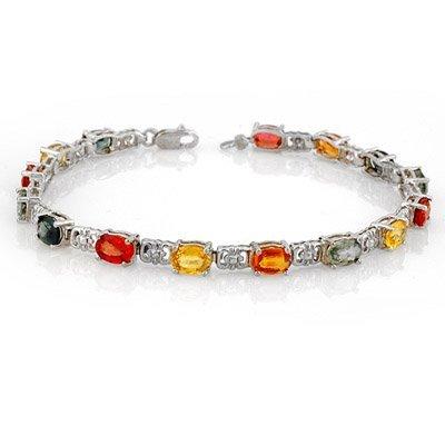 Bracelet 11.0ctw ACA Certified Multi-Color Sapphire