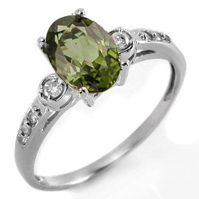 Ring 1.45ctw ACA Certified Diamond & Green Tourmaline