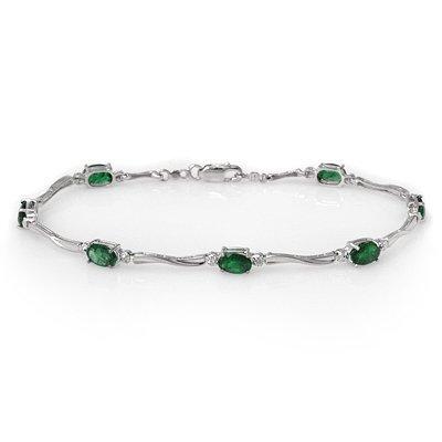 Bracelet 3.52ctw ACA Certified Diamond & Emerald