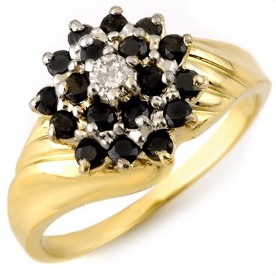 Fine 0.65ctw ACA Certified White & Black Diamond Ring