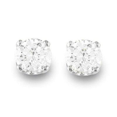 Brilliant Sparkling 1/2ctw Diamond Stud Earrings Gold