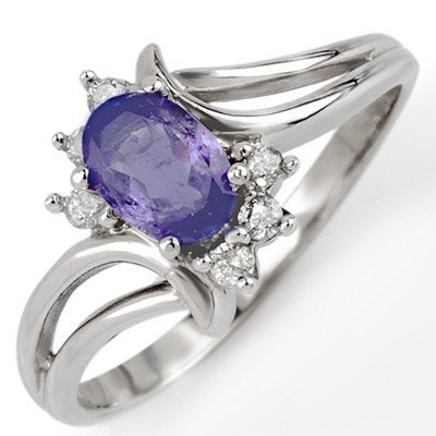 Fine 0.70ctw ACA Certified Diamond & Tanzanite Ring