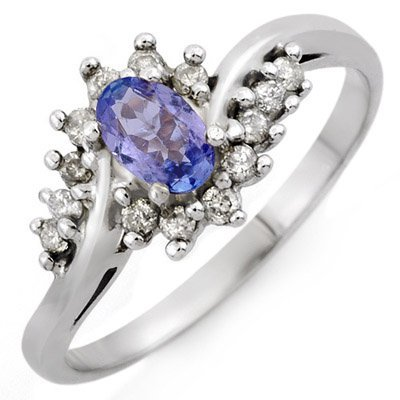 Fine 0.55ctw ACA Certified Diamond & Tanzanite Ring