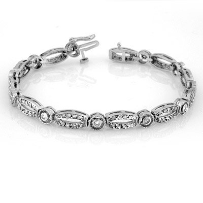Bridal 1.0ctw ACA Certified Diamond Bracelet White Gold