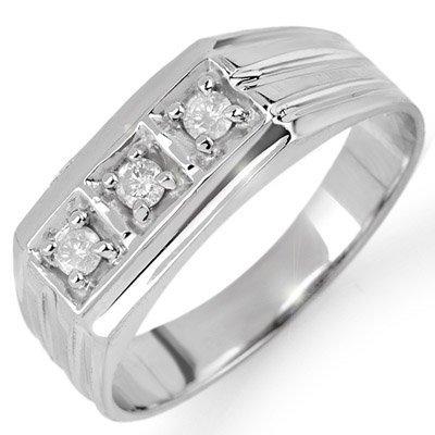 Three-Stone 0.20ctw ACA Certified Diamond Men's Ring
