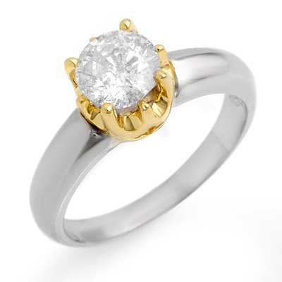 Solitaire 1.0ctw ACA Certified Diamond Ring 14K Gold