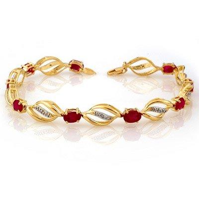 Bracelet 5.10ctw ACA Certified Diamond & Ruby Bracelet