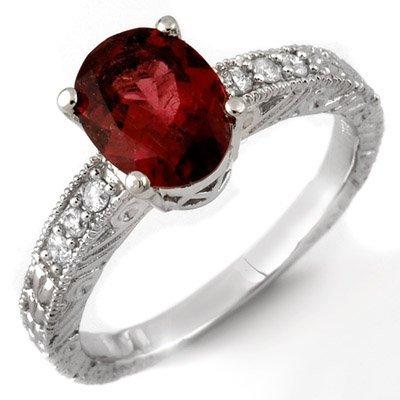 Fine 2.68ctw ACA Certified Diamond & Rubellite Ring