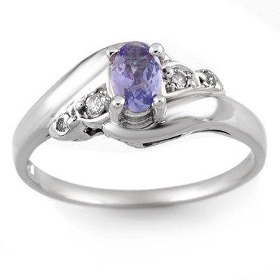 Famous 0.42ctw ACA Certified Diamond & Tanzanite Ring