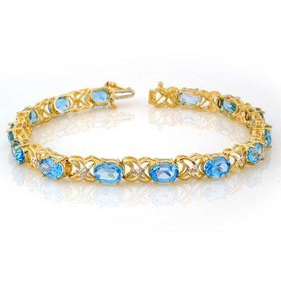 Bracelet 13.55ctw ACA Certified Diamond & Blue Topaz