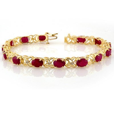Bracelet 16.05ctw ACA Certified Diamond & Ruby Gold