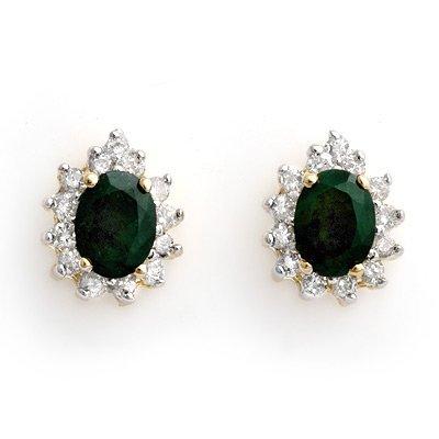 Earrings 3.85ctw ACA Certified Diamond & Emerald