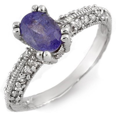 Fine 2.0ctw ACA Certified Diamond & Tanzanite 14K Ring