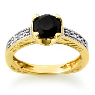 Certified 1.85ctw White & Black Diamond Ring 14K Gold