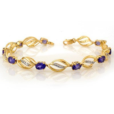 Bracelet 5.60ctw Certified Diamond & Tanzanite Bracelet