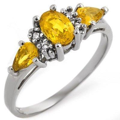 Ring 1.33ctw Diamond & Yellow Sapphire