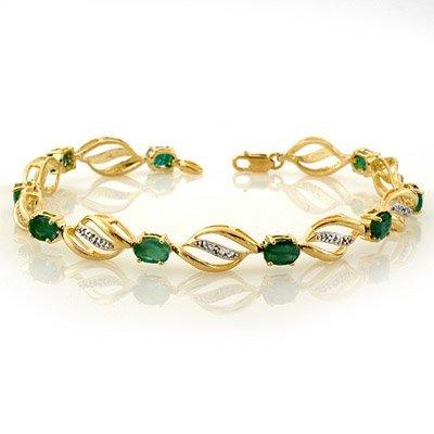 Fine 5.10ctw ACA Certified Diamond & Emerald Bracelet