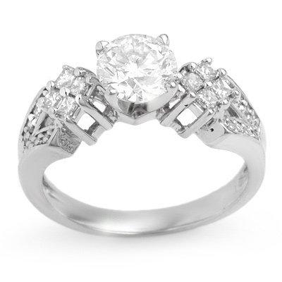 Bridal 1.50ctw Certified Diamond Anniversary Ring Gold
