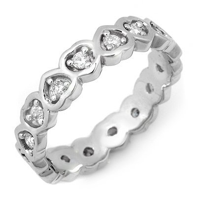 Famous .50ct Certified Diamond Eternity Band White Gold