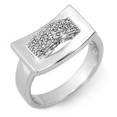 Famous 0.25ctw ACA Certified Diamond Band White Gold